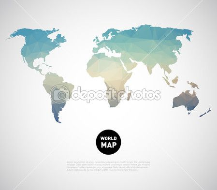 Pozadí mapy světa s polygonální trojúhelník styl designu — Stocková ilustrace #48106061