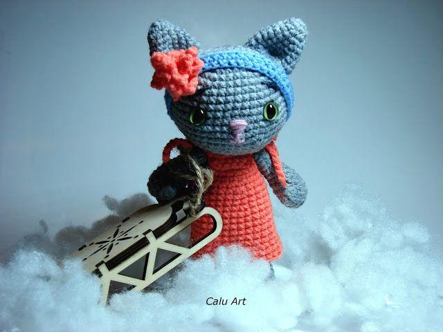 Calu Art: Śniegowy kot / Snow cat