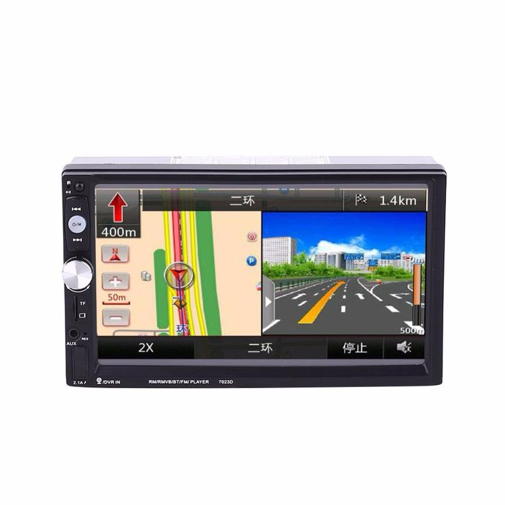 2 Double DIN 7 Inch Car Stereo Aux MP5 7023D Support With GPS FM Bluetooth Radio DC 12V Car Bluetooth player. Yesterday's price: US $157.23 (129.81 EUR). Today's price: US $64.46 (52.95 EUR). Discount: 59%.