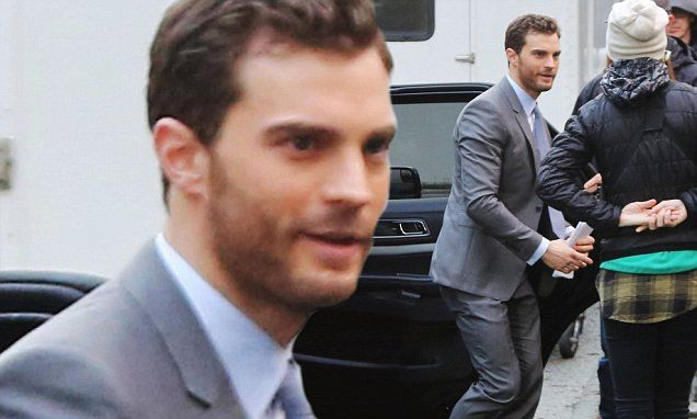 Jamie Dornan seen on set of Fifty Shades Darker for the first time