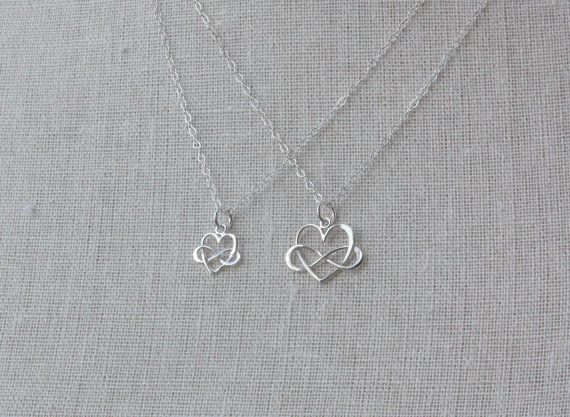 Best 25 mother daughter necklace ideas on pinterest mother mother daughter necklace set mother daughter jewelry silver infinity heart pendants mom daughter gift set first day of school gift aloadofball Image collections