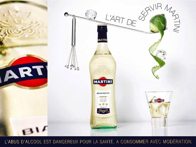 Martini Bianco on the rocks with a twist of lime. Another summer favourite.