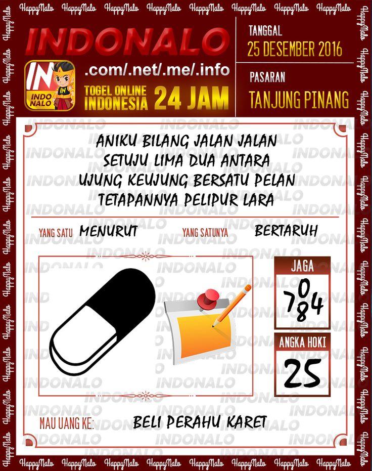 Kode Wangsit 2D Togel Wap Online Live Draw 4D Indonalo Tanjung Pinang 25 Desember 2016