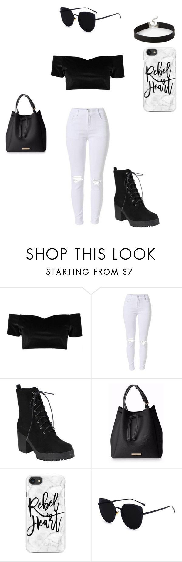 """Rebel heart..."" by hali103 ❤ liked on Polyvore featuring Boohoo, Casetify and Express"