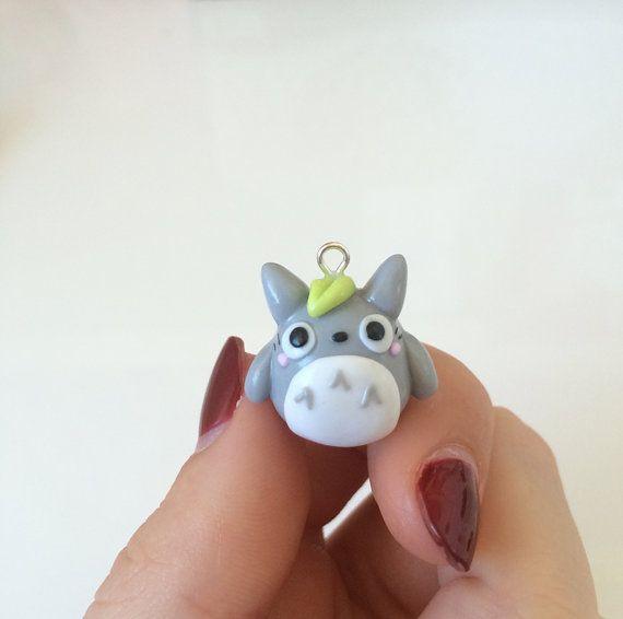 Chubby Kawaii Totoro Charm, Studio Ghibli Jewelry, My Neighbour Totoro, Polymer Clay, Totoro Necklace