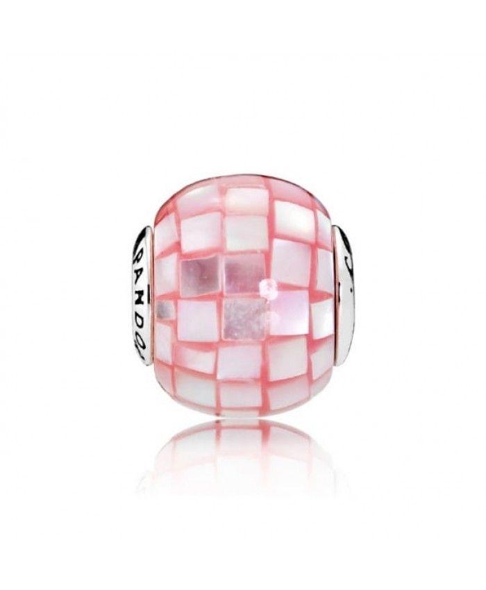 Cheap Genuine Pandora Compassion Pink White Essence Charm 796078MMP UK