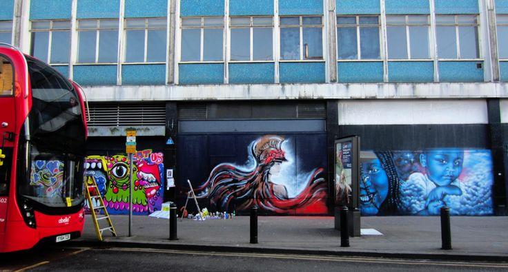 """Athena"" mural by me for Femme Fierce Croydon takeover, Park Street"