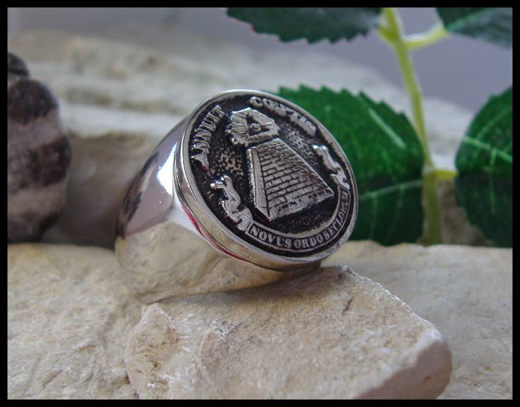Annuit Coeptis Novus Ordo Seclorum | AJS © CHEOPS PYRAMID RING MASONIC EYE SURGICAL STEEL-D7 | eBay