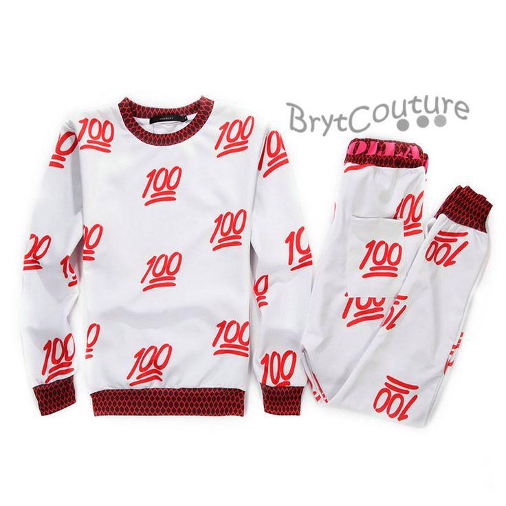 BrytCouture - BrytCouture Limited Edition 100 Emoji Joggers and Sweatshirt - Set, US$89.99 (http://www.brytcouture.com/brytcouture-limited-edition-100-emoji-joggers-and-sweatshirt-set/)