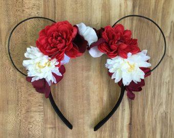 Koraal Rose Minnie Mouse oren van sugarpopcompany op Etsy
