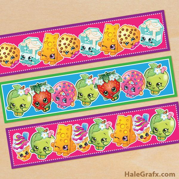 FREE Printable Shopkins Water Bottle Labels