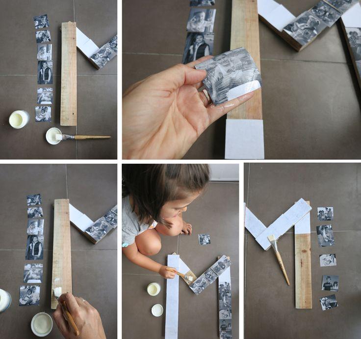 Diy letra de madera con fotos3