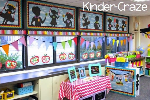 Kindergarten Classroom Decor Themes : Rainbow classroom set up colorful class pinterest