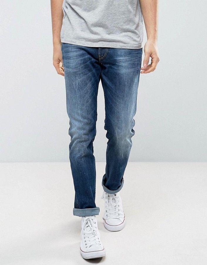Replay Anbass Stretch Slim Jeans Dark Wash