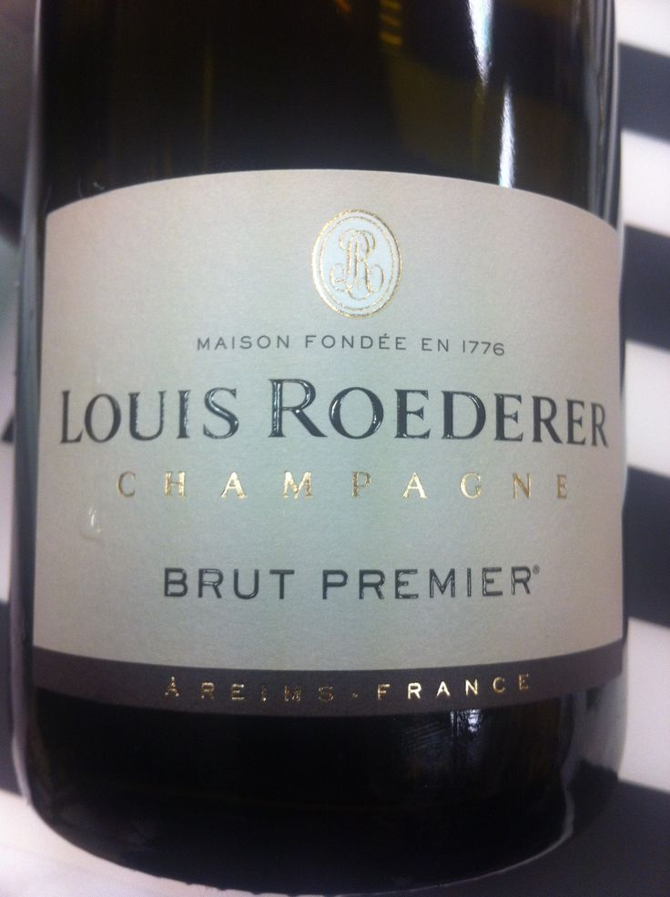 Champagne: brut premier.