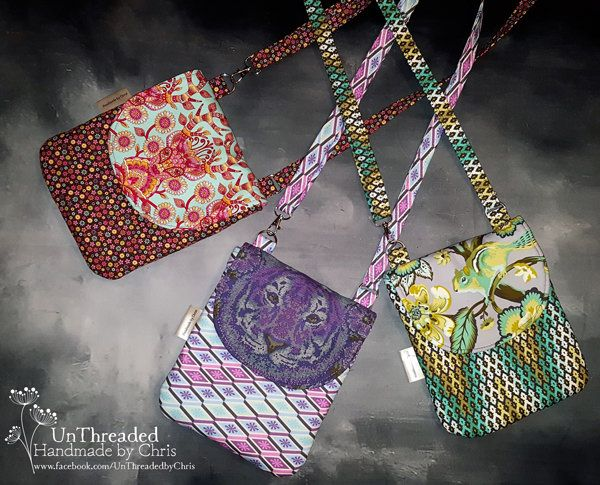 Polly Cross Body Pouch - Free pattern by Andrie Designs  Paper and PDF bag patterns