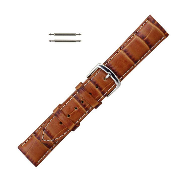 Esslinger.com - Hadley Roma Alligator Grain Italian Leather Watch Band 20mm Tan, $25.60 (https://www.esslinger.com/hadley-roma-alligator-grain-italian-leather-watch-band-20mm-tan/)