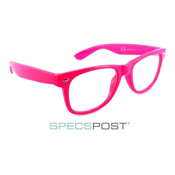 LOL Pink Prescription Glasses ($43) ❤ liked on Polyvore featuring accessories, eyewear, eyeglasses, pink glasses, pink eye glasses and pink eyeglasses