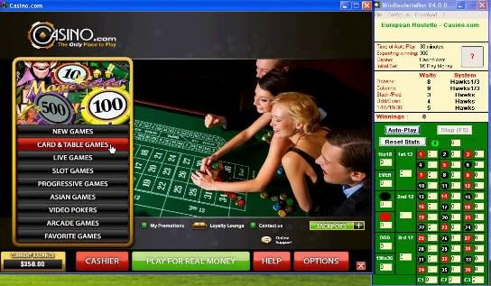 Automated Roulette Robot Software. Professional Roulette player system and tips. Profit Predicting Online Casino Software Program. Make money automated roulette Robot software. Automatic generates what number to bet on the roulette wheel, all calculated from my secret system. Online Gambling Tips  Guide, Las Vegas Gambling, Baccarat Blackjack, Craps, Keno, Video Poker, Other Gambling Sites Online, Casino Game Help, Baccarat for Beginners, Slot Myths, Live Dealer Casinos.