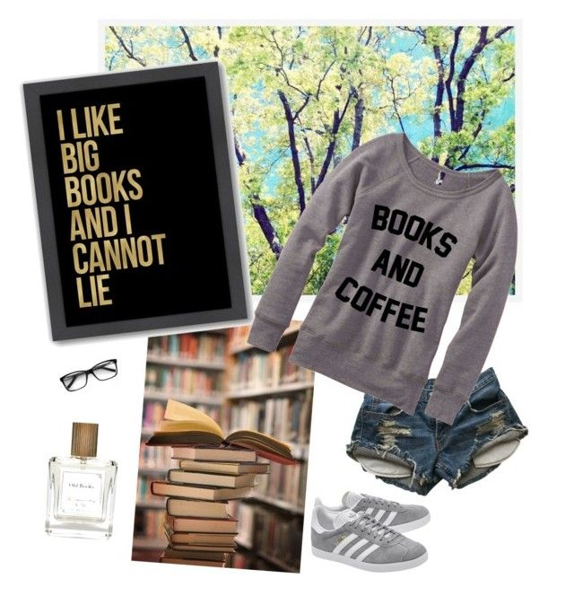 """""""book dragon"""" by alethad ❤ liked on Polyvore featuring Pottery Barn, Americanflat, Levi's and adidas Originals"""