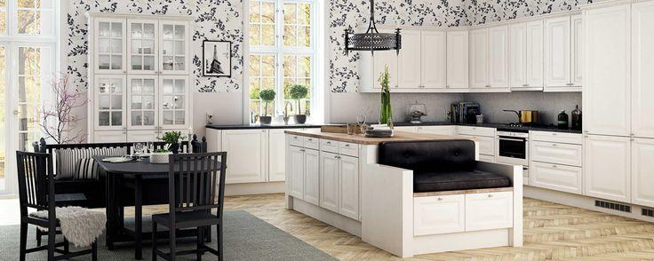 Skandinaavinen maalaisromanttinen keittiö