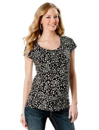 Motherhood Maternity: Short Sleeve Scoop Neck Maternity T Shirt Motherhood Maternity. $9.99