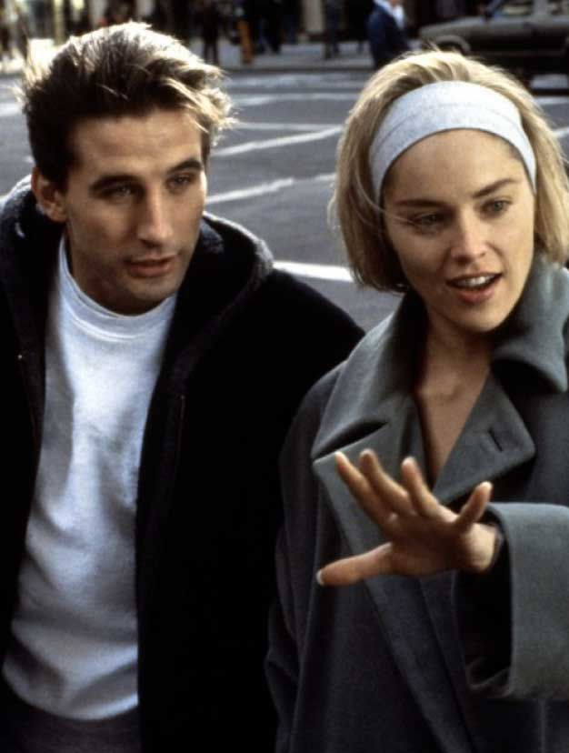 William Baldwin et Sharon Stone dans Sliver