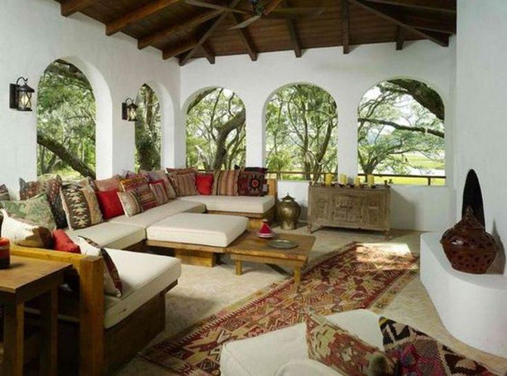 Modern Mediterranean Living Room Interior and Decorations 44