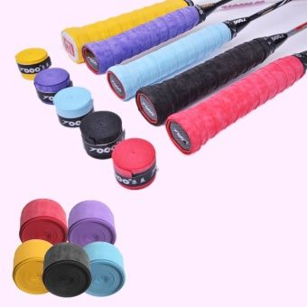 Absorb Sweat Anti Slip Badminton Racket PU Tape Tennis Racket Grip Tape Overgrip Yellow