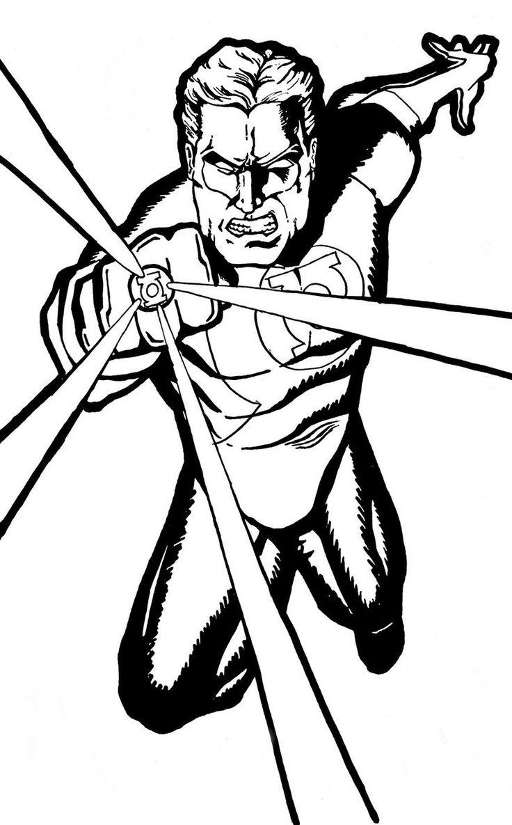 Green Lantern Coloring Page Printable | Artistas, Desenhos ...