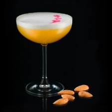 Normandie Treasure : Calvados cocktail recipe with lemon juice by Calvados Cocktails. Dry shake with egg white. Shake with ice. Double strain in well chilled cocktail glass. Garnish with angostura.