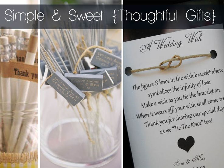 simple wedding favours