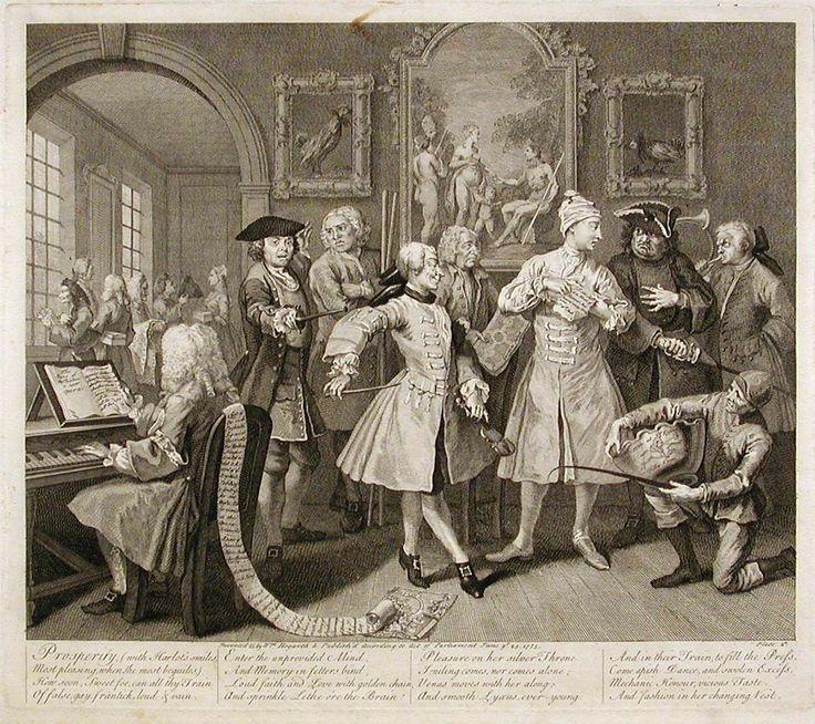 His Levee A Rake S Progress By William Hogarth Circa 1735