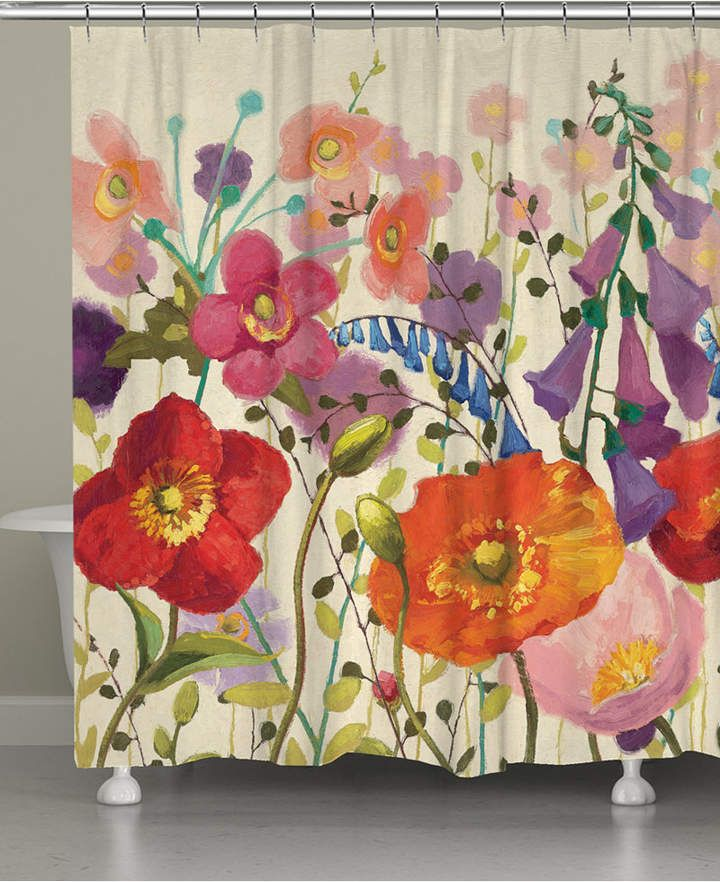 Blossoming Shower Curtain Bedding Floral Shower Curtains Shabby