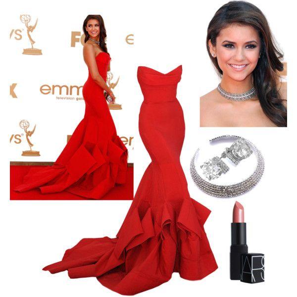 Nina Dobrev at the 63rd Primetime Emmy Awards, created by preecylove on Polyvore