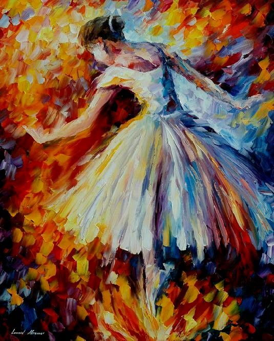 Ahhh!!! Afremov does dancers?!?! This is a dream come true. :): Abstract Oil, Wedding Dressses, Oil Painting Abstract, Ballet Dancers, Leonidafremov, Art, Impressionist Painting, Palettes Knife Painting, Leonid Afremov