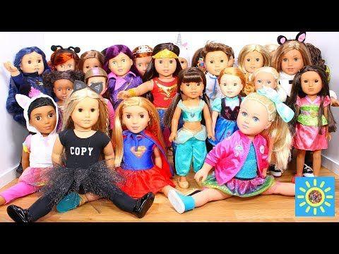 Baby Doll Bedroom for Disney Descendants 2 Mal! American Girl doll dress up & wardrobe play - YouTube