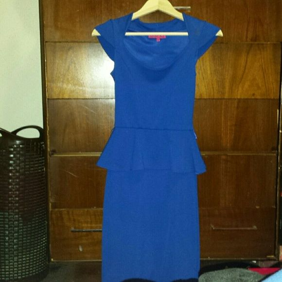 Boohoo Peplum Midi Dress Size USA 4 UK 8 Worn a couple of times...In great condition ...missing skinny belt....hits below the knee Boohoo Dresses Midi