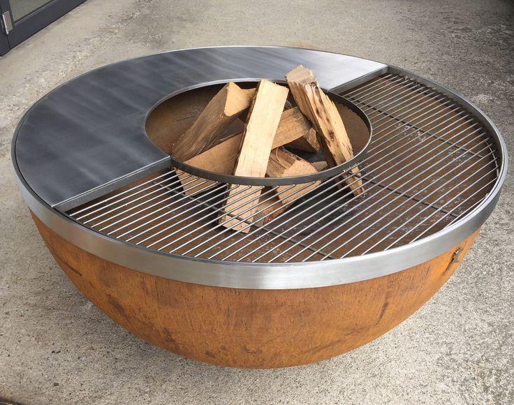 die besten 20 feuerschale mit grill ideen auf pinterest. Black Bedroom Furniture Sets. Home Design Ideas