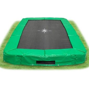 EXIT InTerra Rectangular (7ft x 12ft) Trampoline Green