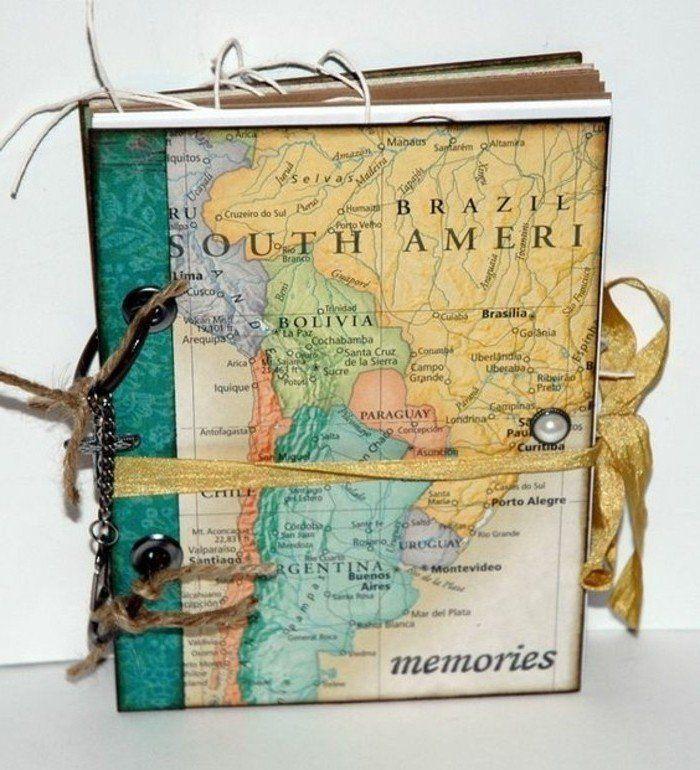 comment faire un carnet de voyage id es inspirantes en 60 photos cahier de voyage cahier et. Black Bedroom Furniture Sets. Home Design Ideas