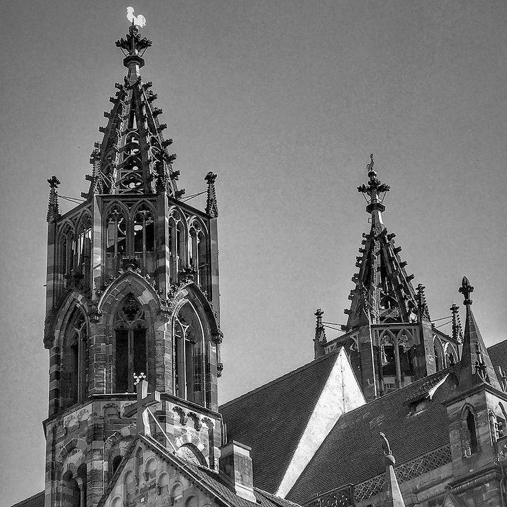 Freiburg Münster completed in the Middle Ages (1330). #landscape #outdoors #freiburg #500px #April15 #deutschland #explorer #adventuretime #adventures #wanderlust #traveling #travelgram #travelingram #mytravelgram #instatraveling #traveler #igtravel #tourism #trip #travelphoto #iphone #instagood #germany #bestoftheday #iphone7plus #photooftheday #history #ruins #münster #blackandwhite #instagood