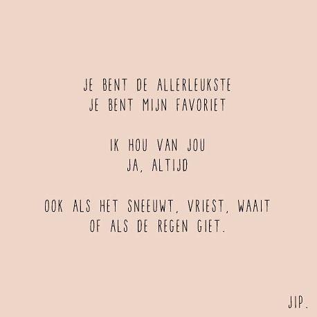 Gewoon JIP.  |Gedichten | Kaarten | Posters | Stationery | & meer © sinds feb 2014 | Liefde | Quote | Huwelijk | Bruiloft | Valentijn | Voordragen | Cadeau Huwelijk | Wedding decoration | Wedding inspiration | Love | Wedding card |  Je bent de allerleukste | © Een tekstje van JIP. gebruiken? Dat kan! Stuur een mailtje naar info@gewoonjip.nl