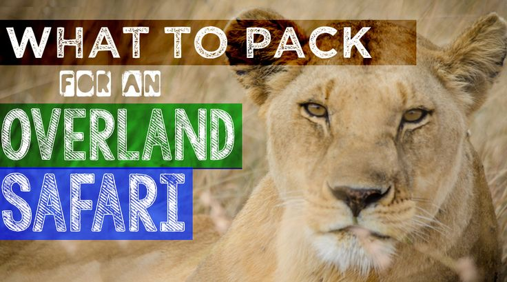 What to pack for an overland safari - helpful advice from the folks at Getting Stamped