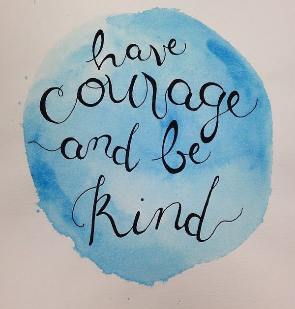 """""""Have courage and be kind"""" by Sketchy Lefty Illustration, watercolor print, calligraphy, Inspired by Disney's Cinderella"""