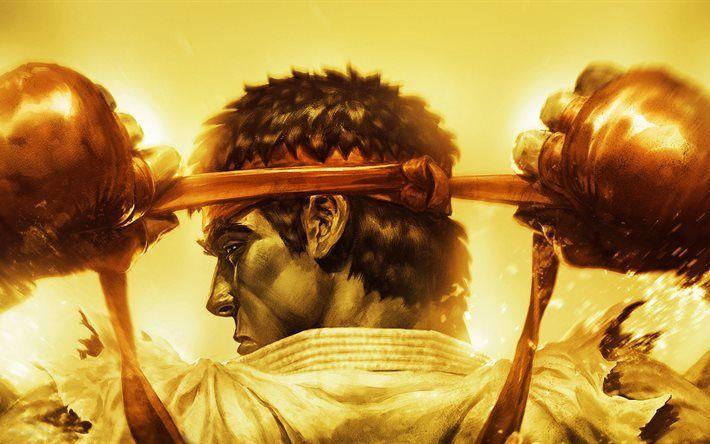 Télécharger fonds d'écran Ryu, 5k, de combat, Street Fighter IV