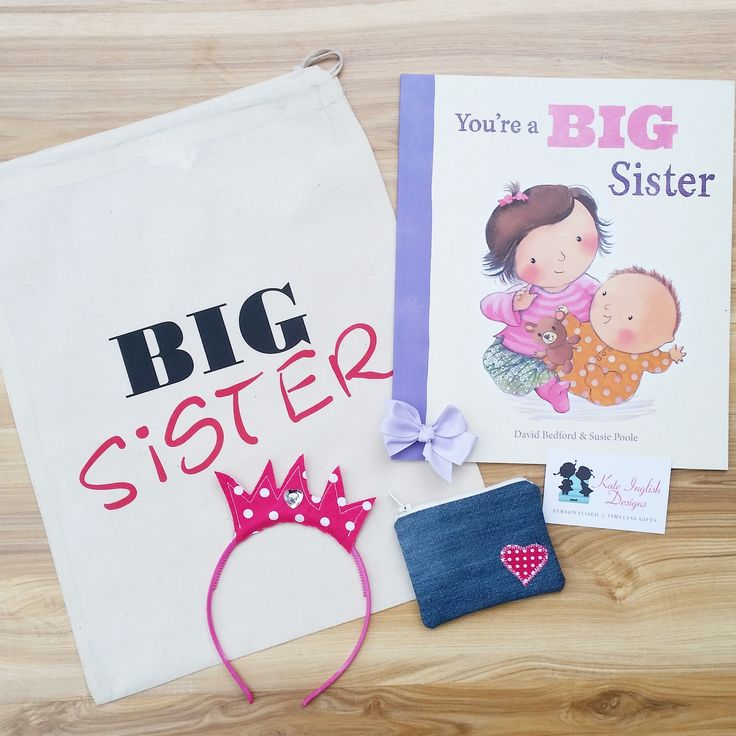 31 best personalised baby gifts images on pinterest baby keepsake big sister gift bags with alimrose doll negle Image collections