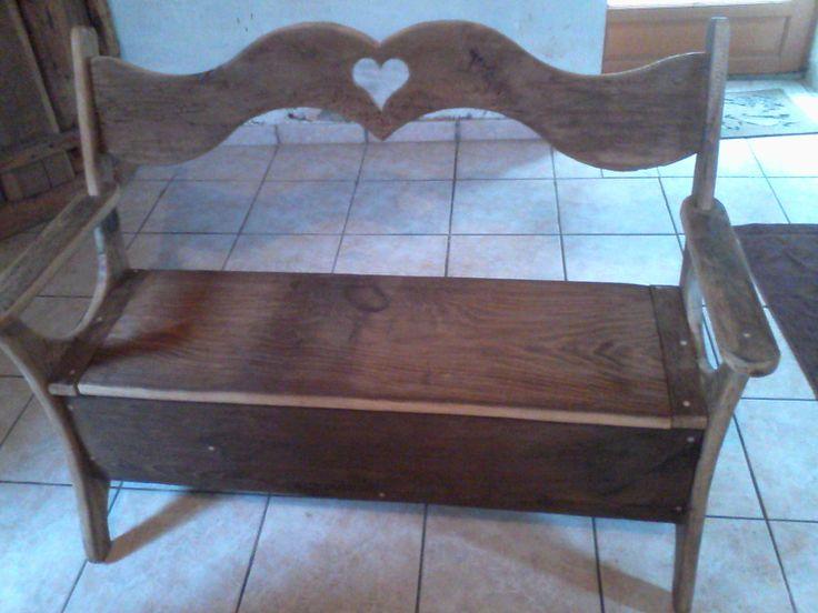 banc coffre meuble de art montagnard pinterest banc coffre bancs et meubles. Black Bedroom Furniture Sets. Home Design Ideas