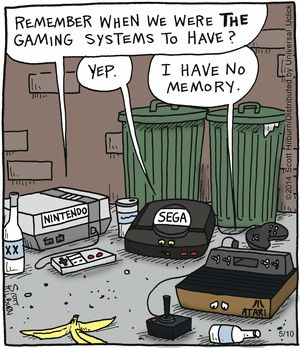 The Argyle Sweater by Scott Hilburn -- The Argyle Sweater Comic Strip on GoComics.com   --   My, how fast time changes technology...