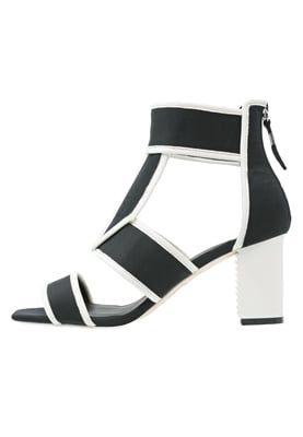 MACAO - Sandalen met schacht - black/white
